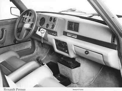 1980 Renault 5 Turbo Interior ORIGINAL Factory Photo oua2239