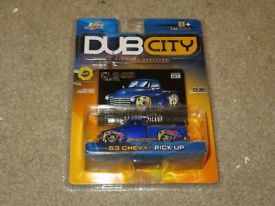 JADA TOYS DUB City Old Skool 1953 53 Chevy Bel Air Blue + White 1:64 ...