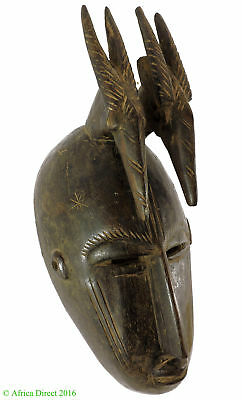 Bamana Kore Society Mask with Antelope on Top African Art