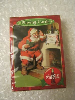 Coca-Cola Santa Playing Cards, un-opened package, Bicycle Brand (007-5)