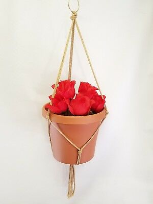 MACRAME PLANT HANGER 26 inch Basic Style - Choose Color
