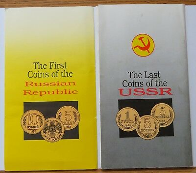 The Last Coins of the USSR + First Coins of the Russian Republic Sets (091822T)