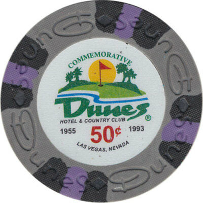 Poker Chip (1) 50¢ Dunes Commemorative 9 gram Clay Composite FREE SHIPPING*
