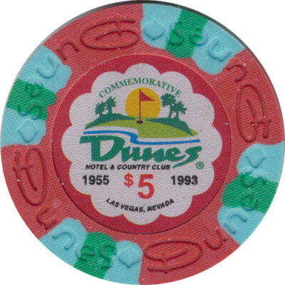 Poker Chip (1) $5 Dunes Commemorative 9 gram Clay Composite FREE SHIPPING*