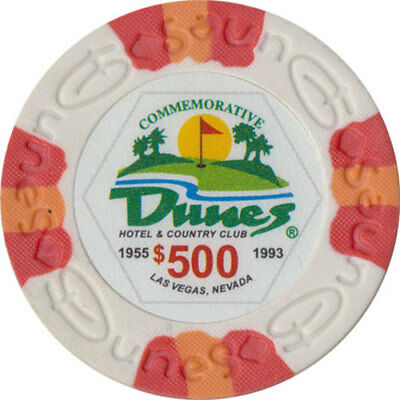Poker Chip (1) $500 Dunes Commemorative 9 gram Clay Composite FREE SHIPPING*