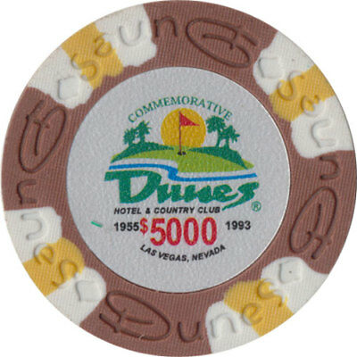 Poker Chip (1) $5000 Dunes Commemorative 9 gram Clay Composite FREE SHIPPING*