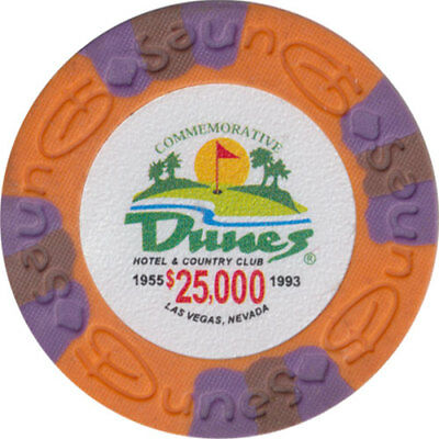 Poker Chip (1) $25,000 Dunes Commemorative 9 gram Clay Composite FREE SHIPPING*