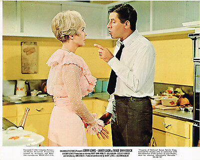 """Three On a Couch 1966  8x10"""" color movie still photo Jerry Lewis"""