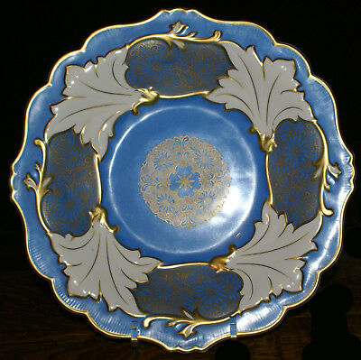 "Beautiful Weimar Reublic 12.5"" Cabinet Plate * Blue and White * Jutta 40 Dresden"