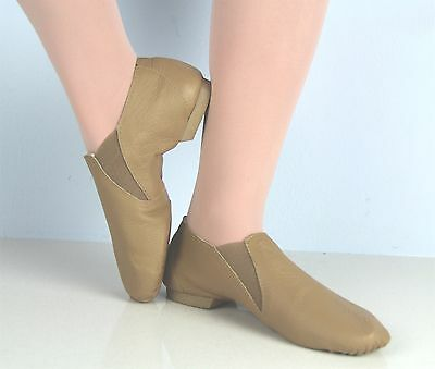 EllisBella Jazz shoe-New Tan split sole Jazz booties foot14.6 to 26.0 cm