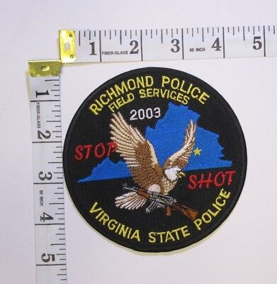 Richmond Virginia Field Services State Police Shoulder Patch
