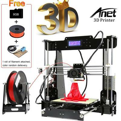 Anet A8 Upgraded Auto Level 3D Printer DIY Kit+Filament+8G SD Card ABS/PLA Print