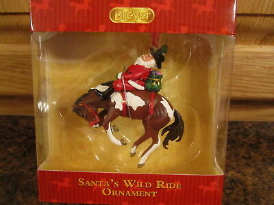 NEW Breyer Horses Christmas Ornament Santa's Wild Ride #700648  /NIB