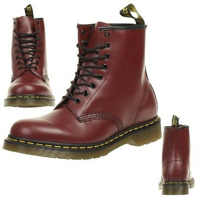 Dr.Martens 1460 Cherry Red Smooth Boots Red