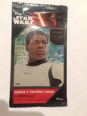 """L@@k Topps Star Wars """"the Force Awakens, Series 2"""" Factory Sealed Packet"""