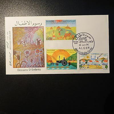 ALGERIA N°587/589 ON LETTER COVER 1st DAY FDC