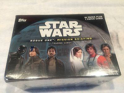 """L@@k Topps Star Wars """"rogue One: Mission Briefing"""" Factory Sealed Box"""