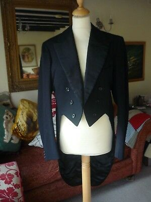 Superb 1920s Black Tail Suit - Evening  Dress  - Button Fly -Parsons Bros Yeovil