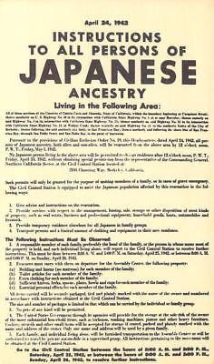 WWII Rare Find - Notice of Japanese Evacuation, Oakland, Contra Costa Co. Ca.