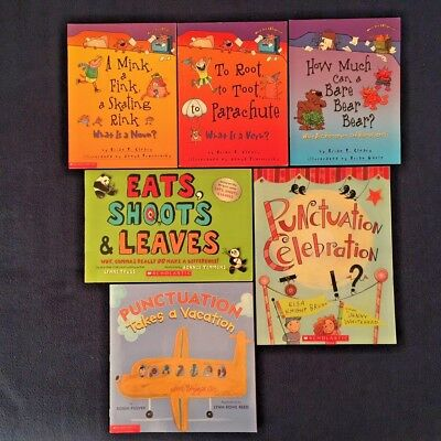 Lot of 6 Children's Picture Books about Grammar Punctuation Nouns Verbs & More