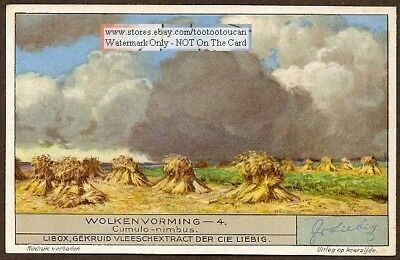 Cumulo-Nimbus Clouds Weather Meteorology 1920s Trade Ad Card