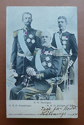 May 21,1903 Postcard of King Oscar II and Heirs to the Throne of Sweden