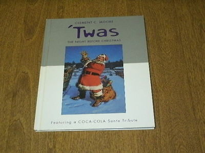 "HALLMARK 2001 HC ""TWAS THE NIGHT BEFORE CHRISTMAS w/COCA-COLA SANTA'S""-VGC"