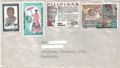Old Cover with Stamps Philippines to Australia 1975