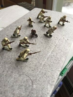 """25mm Old Glory WWII Red Army Snipers Winter Wargaming (10) Figures Detailed 1.5"""""""