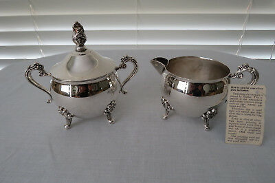 Grosvenor Silver Plate Lidded Sugar Bowl plus Milk Jug