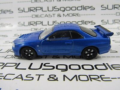 GREENLIGHT 1/64 LOOSE Collectible Blue 2002 NISSAN SKYLINE GT-R R34 Diorama Car