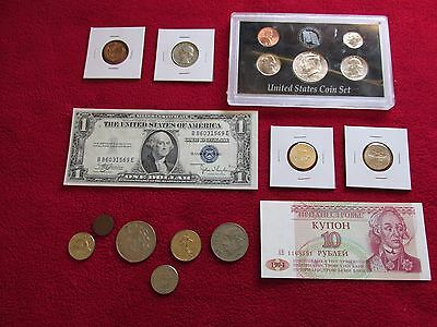US Coins LOT Mint+1958 BU.Wheat+1959  90% SILVER+1935 CURRENCY NO RESERVE #167