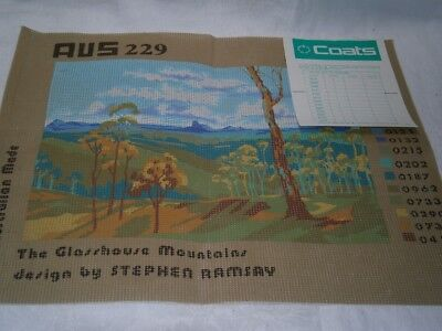 "Coats "" The Glasshouse Mountains ""  Tapestry Canvas  Color Chart & Instructions"