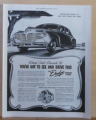 1940 magazine ad for Dodge - 1941 Luxury Liner, Words Can't Describe It