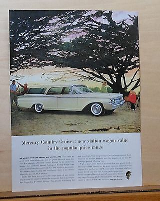 1960 magazine ad for Mercury - Country Cruiser station wagon, clean trim beauty