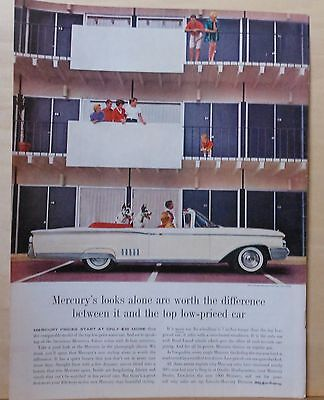 1960 magazine ad for Mercury - Park Lane Convertible, 2 Great Danes at mod apt.