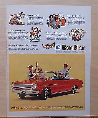 1964 magazine ad for Rambler - American 440 Convertible photo