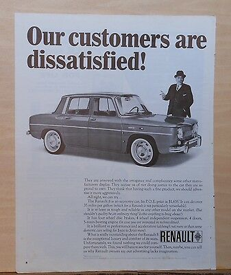 1966 magazine ad for Renault - Renault 8 owners are Dissatisfied - with ads