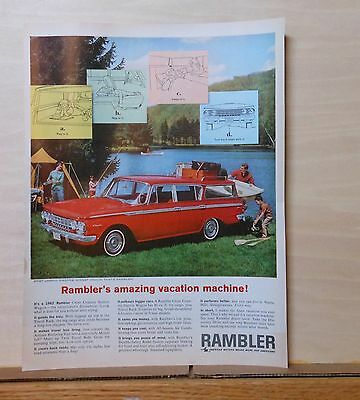 1962 magazine ad for Rambler - Amazing Vacation machine!, Cross Country Wagon