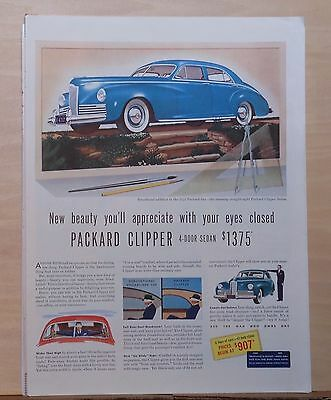 1941 magazine ad for Packard - Clipper Sedan, You'll Appreciate with eyes closed