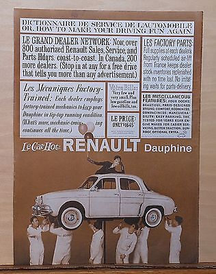 1960 magazine ad for Renault - Dauphine, How to Make Your Driving Fun Again