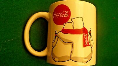 Coca Cola polar bear pair drinking porcelain mug Coke cup ceramic 10 ounce