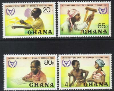 Ghana 1982 Intl Year For Disabled Persons Mnh Set Of 4