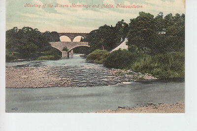 Meeting of Rivers Hermitage & Liddle, Newcastleton, Roxburghshire
