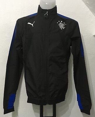 Glasgow Rangers Black Stadium Jacket By Puma Size Adults Medium New