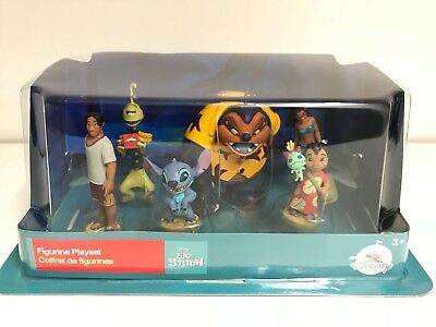 DISNEY LILO UND STITCH 6 Figuren Play SPIEL Set Nani David Jumba Pleakley Scrump