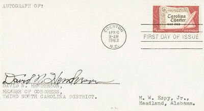 David N. Henderson - First Day Cover Signed