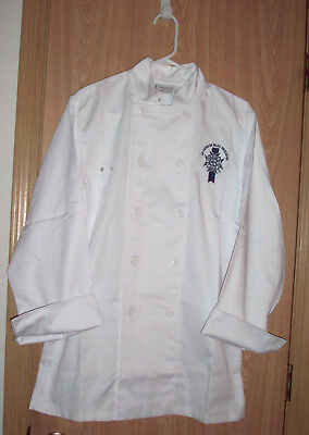 Chef Works ~ Chef's Coat ~  LE CORDON BLEU PROGRAM PARIS ~ Man's Size Small, NEW