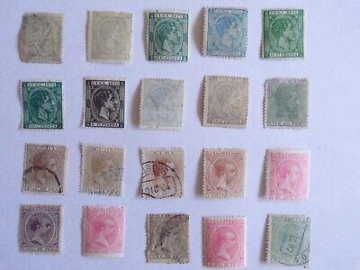 Collection of stamps from unnamed non-Commonwealth Caribbean island : 1871-1891