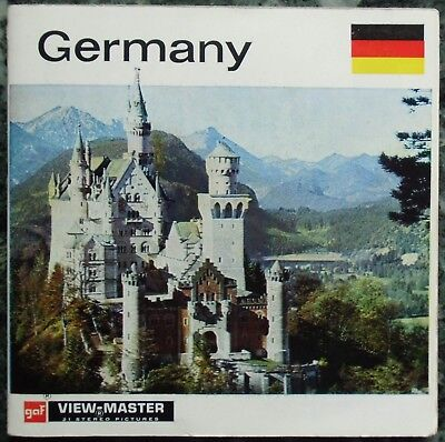 3 View-Master 3D Bildscheiben - Nations Of The World | Germany + Booklet